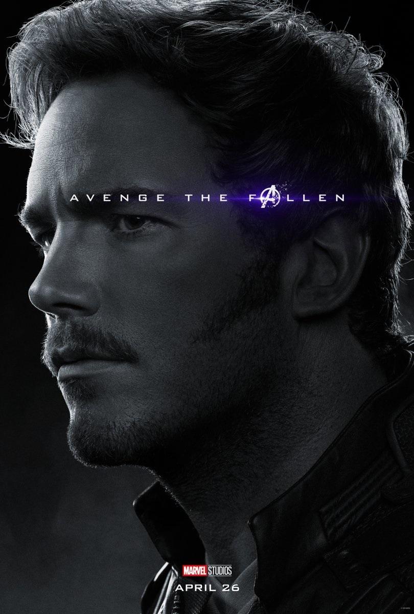 Endgame character poster for Chris Pratt's Star-Lord
