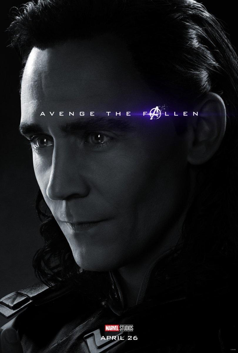 Endgame character poster for Tom Hiddleston's Loki