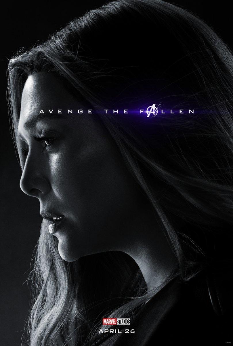 Endgame character poster for Elizabeth Olsen's Scarlet Witch