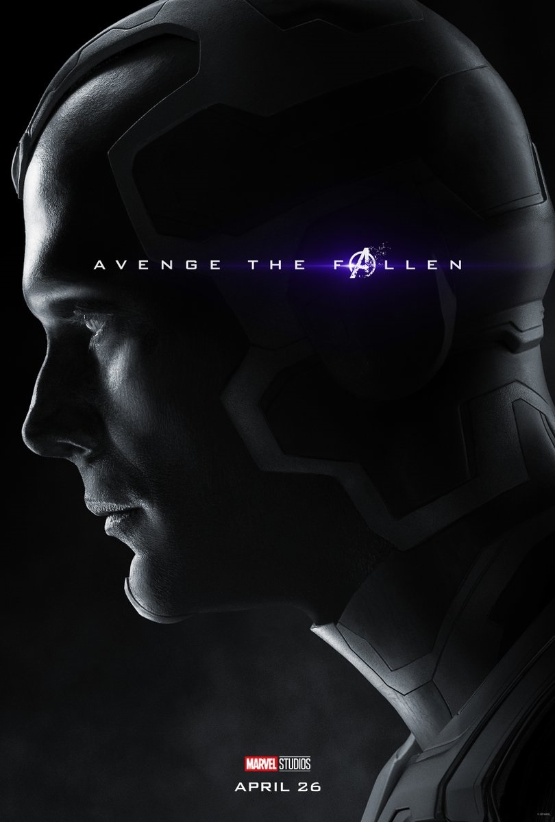 Endgame character poster for Paul Bettany's Vision