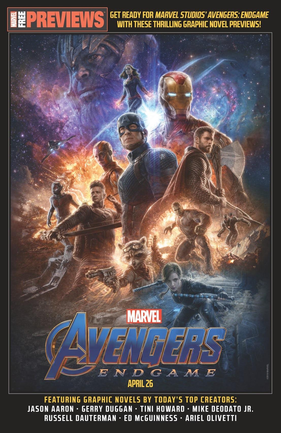 Endgame cover for Marvel's Previews magazine