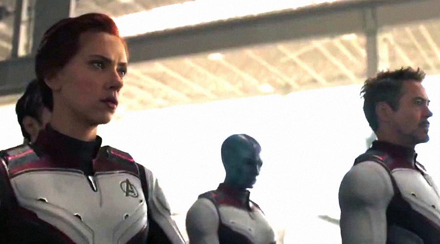 Black Widow with her fellow superheroes in Avengers: Endgame