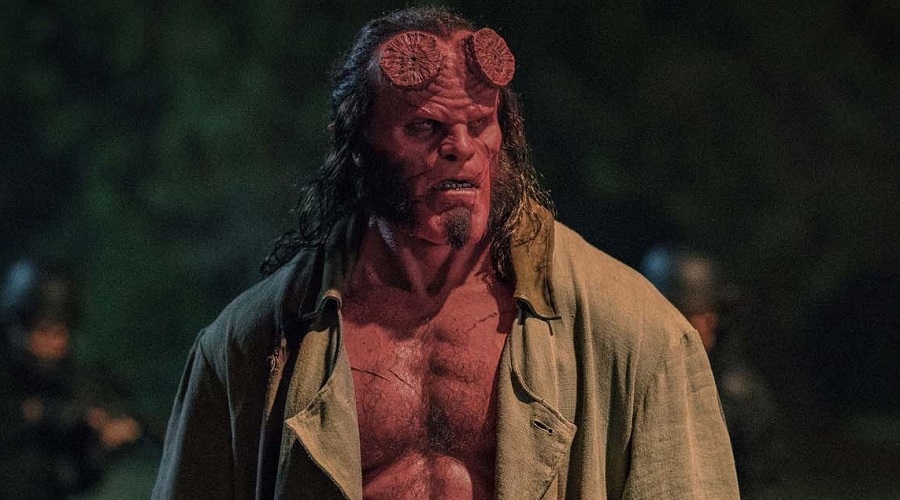 David Harbour as the Big Red in the Hellboy reboot