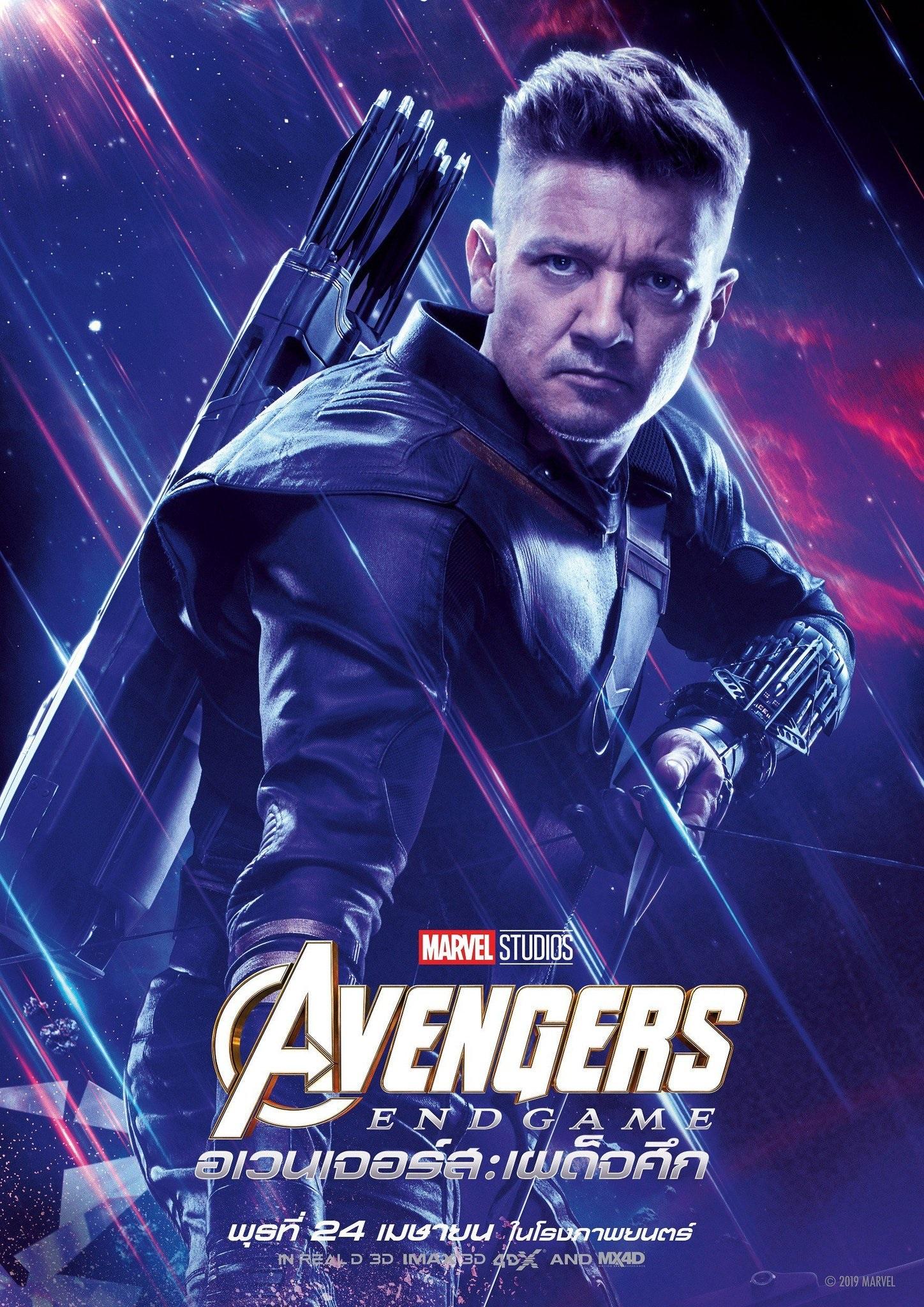 Endgame international character poster for Hawkeye