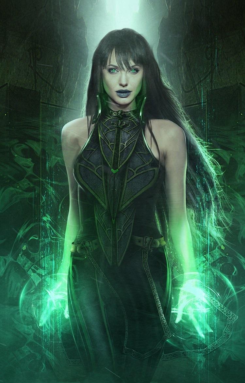 The Eternals fan-art depicting Angelina Jolie as Sersi