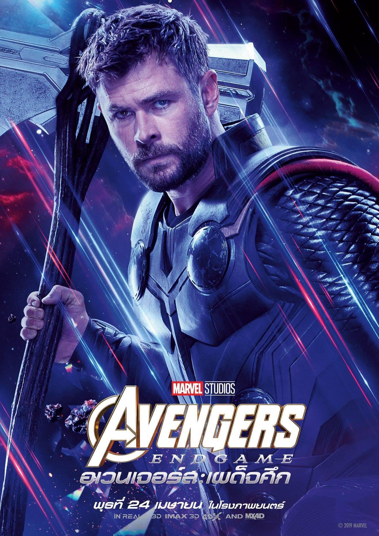 Endgame international character poster for Thor