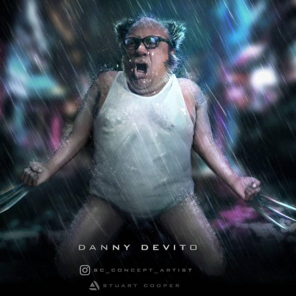 Fan-art depicting Danny DeVito as Wolverine