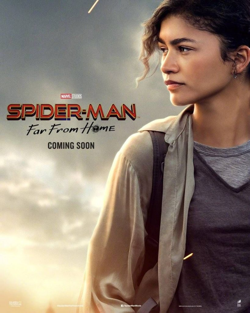 Character poster for Zendaya's MJ