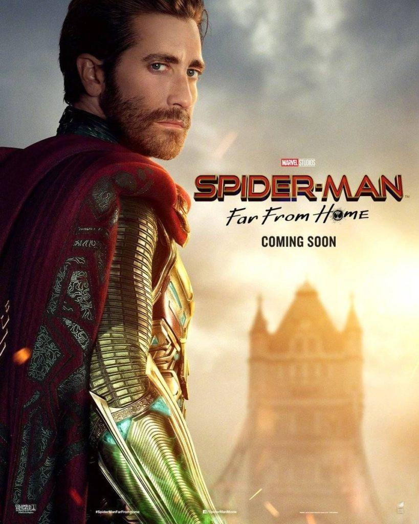 Character poster for Jake Gyllenhaal's Mysterio