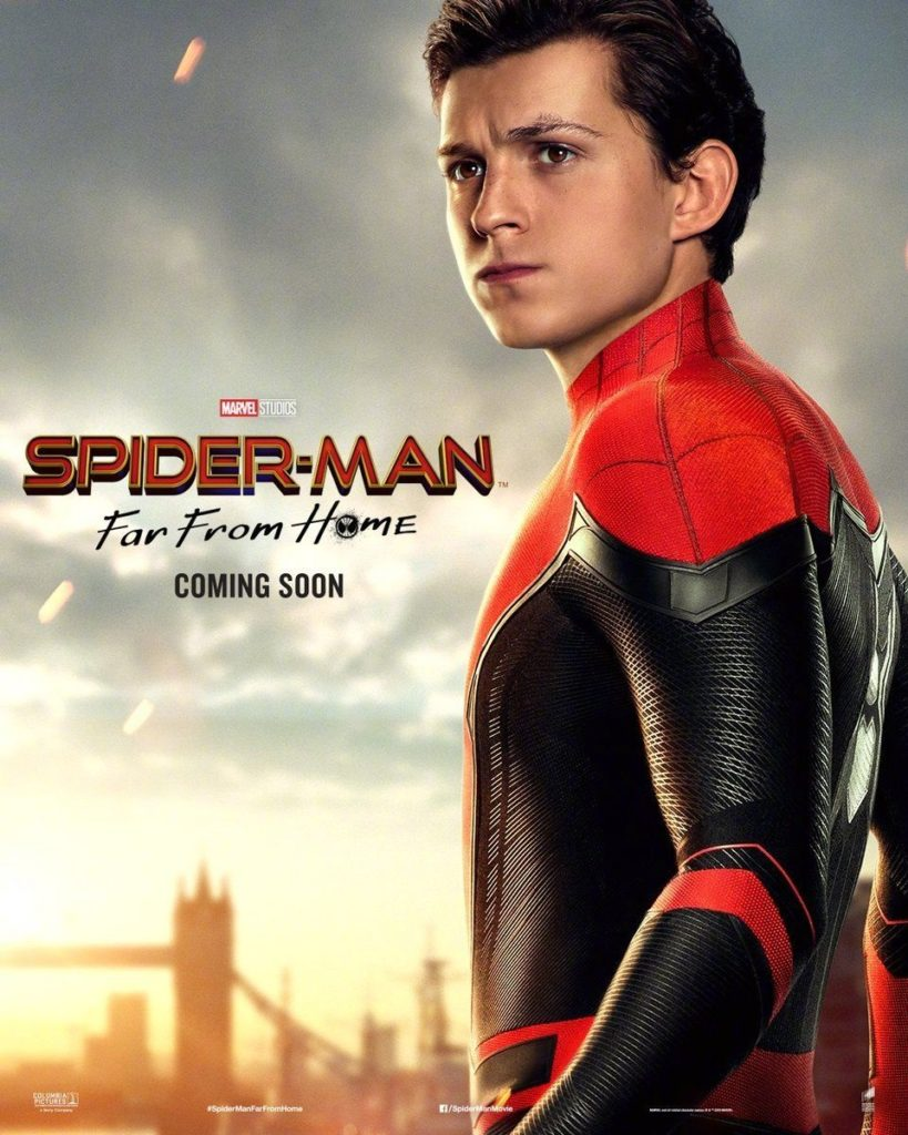 Character poster for Tom Holland's Spider-Man